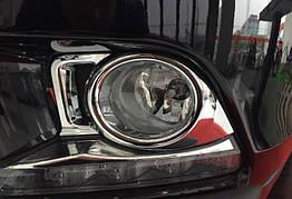 Toyota Highlander XU50 2014+ накладка хром на противотуманные фары малая