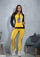 Стильный женский весенний спортивный костюм размеры 48-54 арт 5305