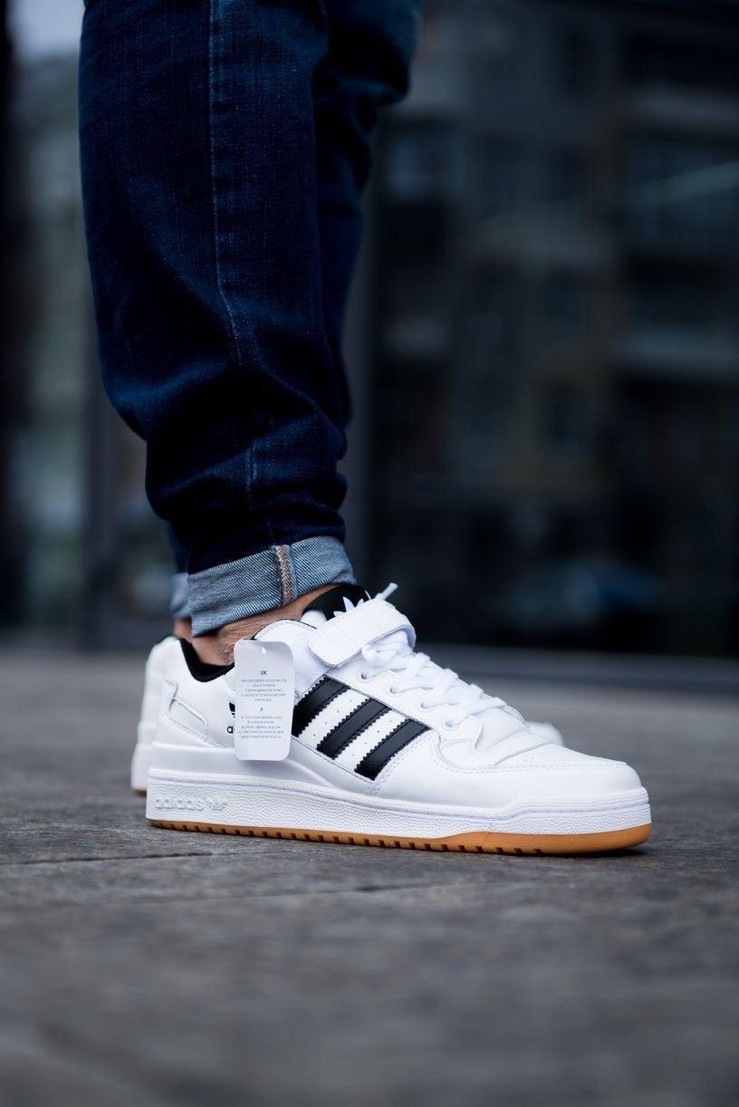 Кроссовки Adidas Forum Mid (белые)