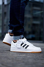 Кроссовки Adidas Forum Mid (белые), фото 3