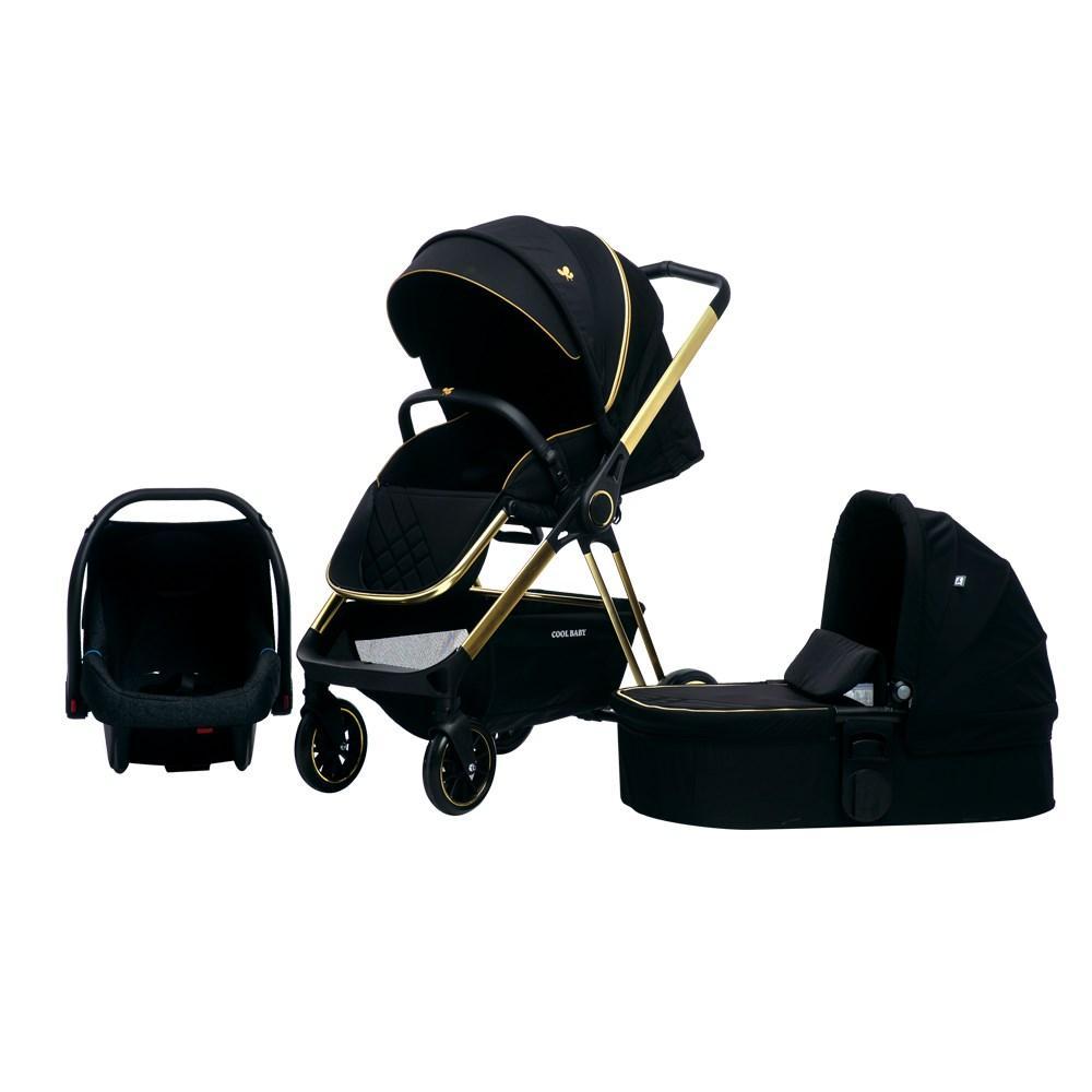Детская коляска 3в1 Cool Baby Black Gold