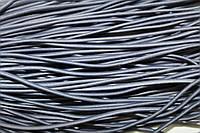 Резинка шляпная, круглая 2,5мм 50м серый