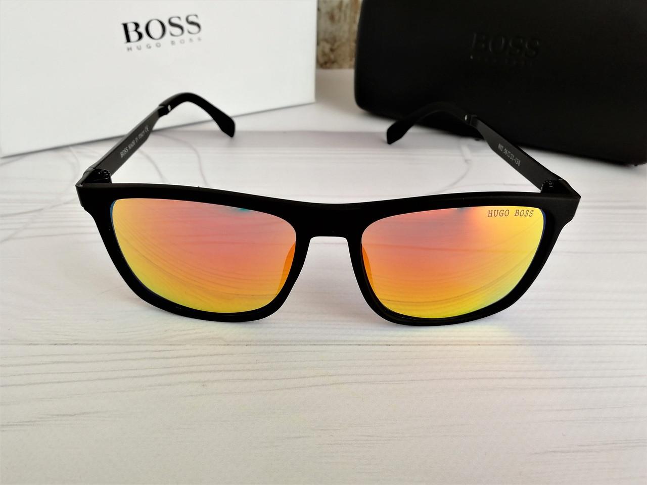 Мужские брендовые солнцезащитные очки Hugo Boss