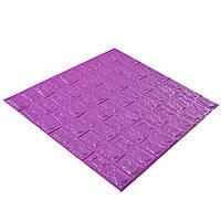 Самоклеющаяся декоративная 3D панель для стен под Кирпич фиолетовый