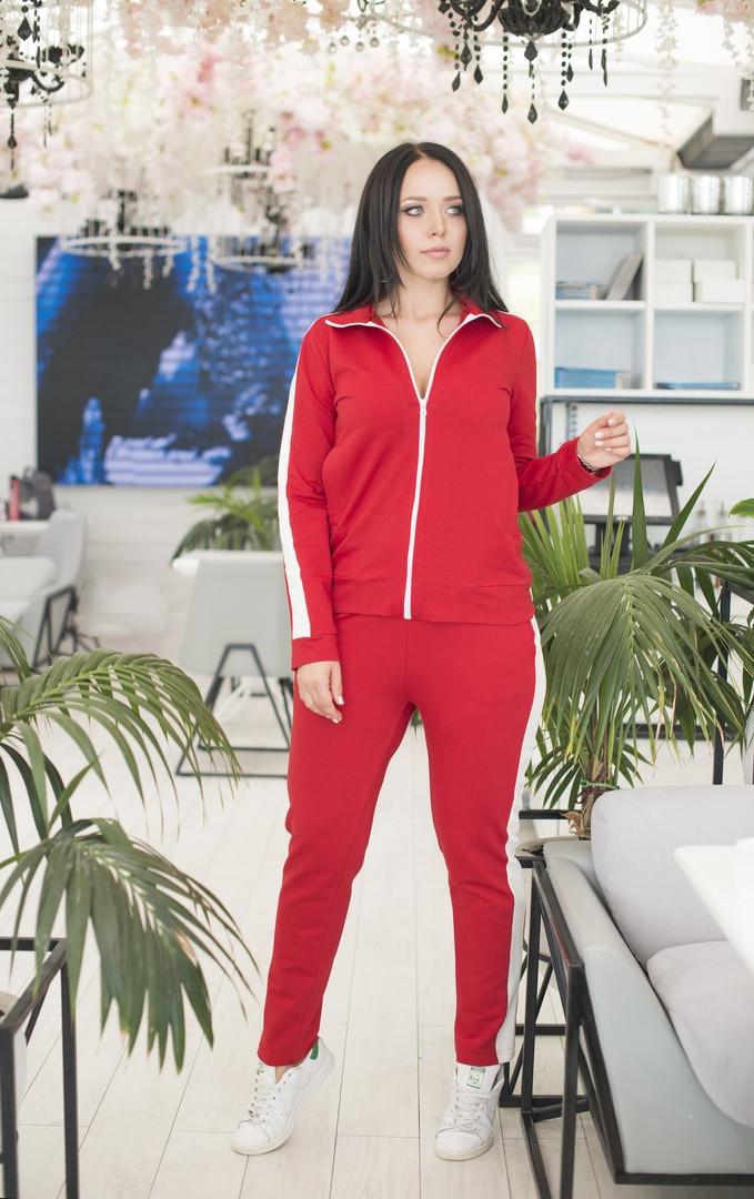 Женский спортивный костюм кофта на молнии большие размеры