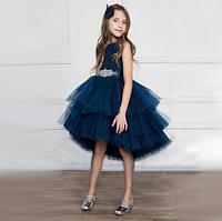 Ошатне синє плаття, каскадне для дівчинки від 3 до 10 років.Elegant blue cascading dress for a girl, фото 1