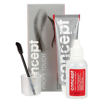 Concept Profy Touch Крем-краска для бровей и ресниц, цвет графит