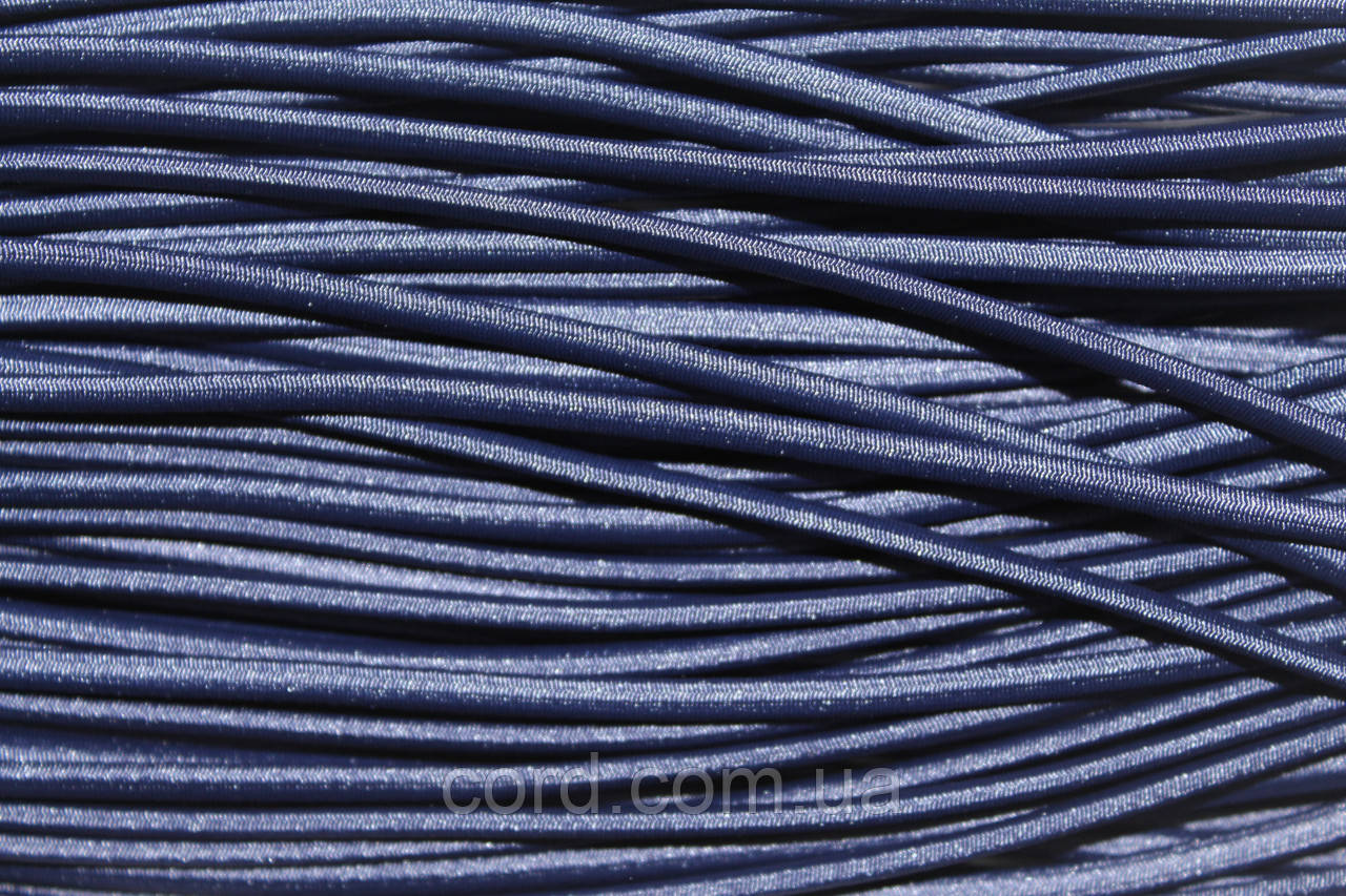 Резинка шляпная, круглая 2,5мм 50м синий