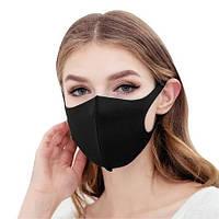 Маска Питта для защиты органов дыхания черная дайвинг