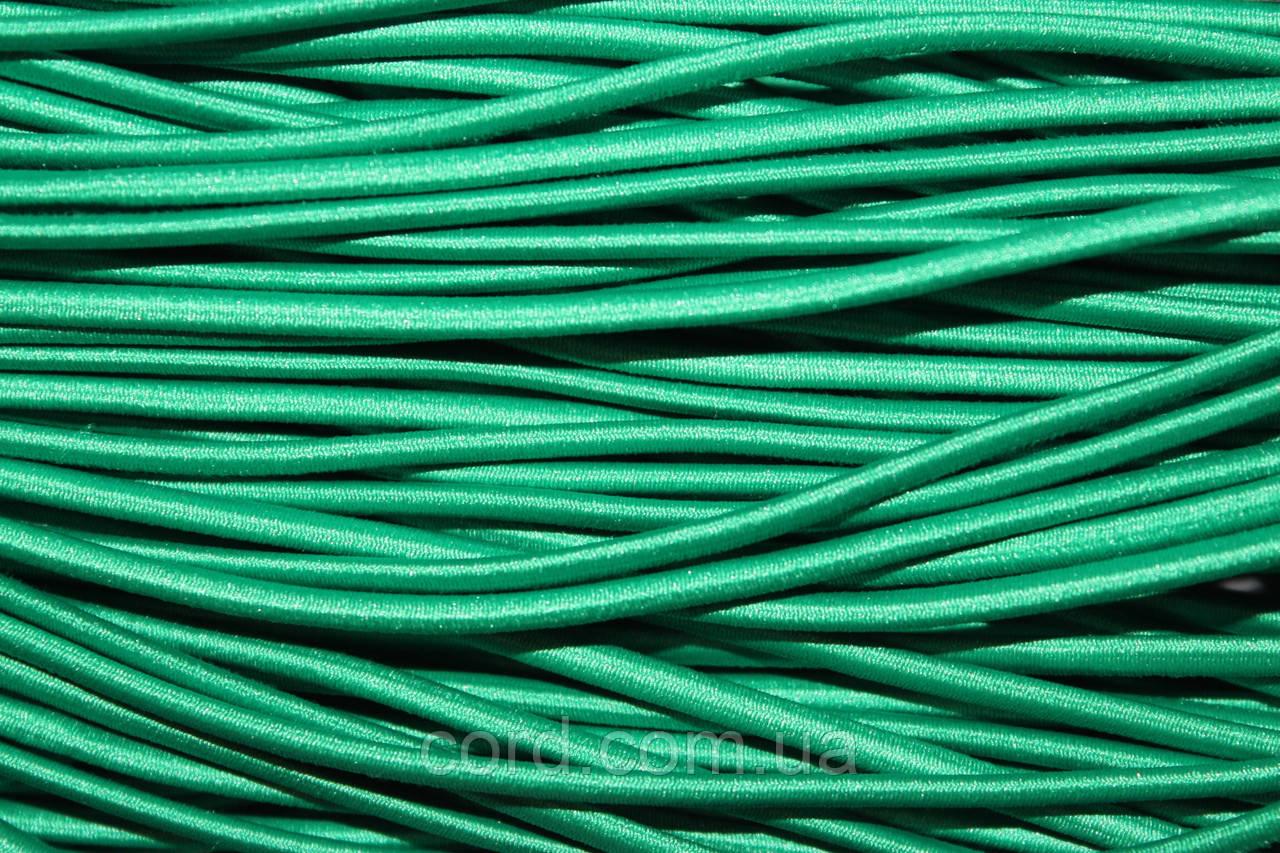 Резинка шляпная, круглая 2,5мм 50м зеленый