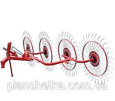 Грабли ворошилки Agromech на круглой трубе (Украина-Польша, 4 секции, спица оцинкованная)