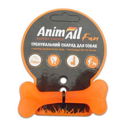 Игрушка AnimAll Fun кость, оранжевая, 8 см, фото 2