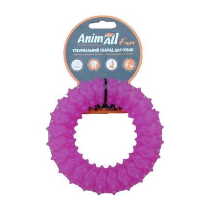Игрушка AnimAll Fun кольцо с шипами, фиолетовый, 12 см, фото 2