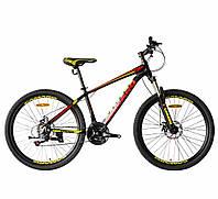 """Велосипед CAMARO Onix 26"""" черно красный рама 13,5"""" 15"""""""