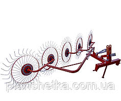 Грабли-ворошилки на круглой трубе (Украина-Польша, 5 секций, спица оцинкованная) Agromech