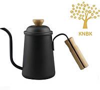 Чайник для кофе с длинным носиком 650 мл. (Черный) Альтернативное заваривание