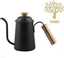 Чайник для кави з довгим носиком 650 мл (Чорний) Альтернативне заварювання