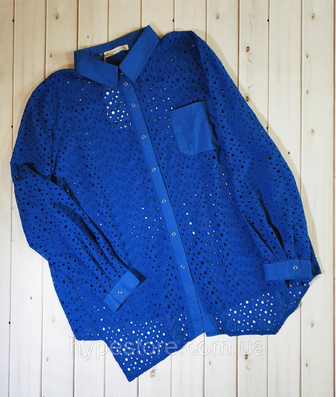 Красивая легкая блузка из прошвы ,туника 100% коттон , замеры в описании!!!