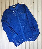 Красивая легкая блузка из прошвы ,туника 100% коттон , замеры в описании!!!, фото 1