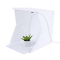 Световой лайткуб UKC с LED подсветкой для предметной макросъемки 24 х 23 х 22 см Белый (R0116)