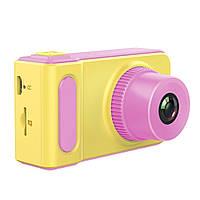 Цифровой детский фотоаппарат Summer Vacation Smart Kids Camera HH-7 Original 720P Розовый с желтым (RI0287)