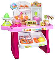 Игровой набор Jinxing Fun Супермаркет 2 в 1 668-41/42 с тележкой и аксессуарами Розовый (RI0288)