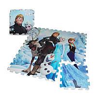 Напольный коврик - пазл Холодное сердце 9 элементов Разноцветный (RI0322)