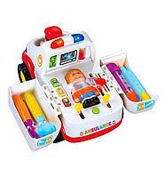 Машина музыкальная Скорая помощь амбулатория со световыми и звуковыми эффектами Разноцветный (RI0324)