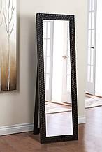 Напольное зеркало в черном цвете 1900х600 мм