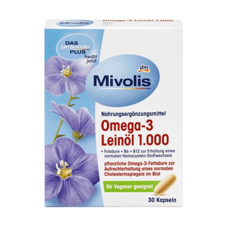 Комплекс Mivolis DM Omega 3 c маслом льна, 30 шт.