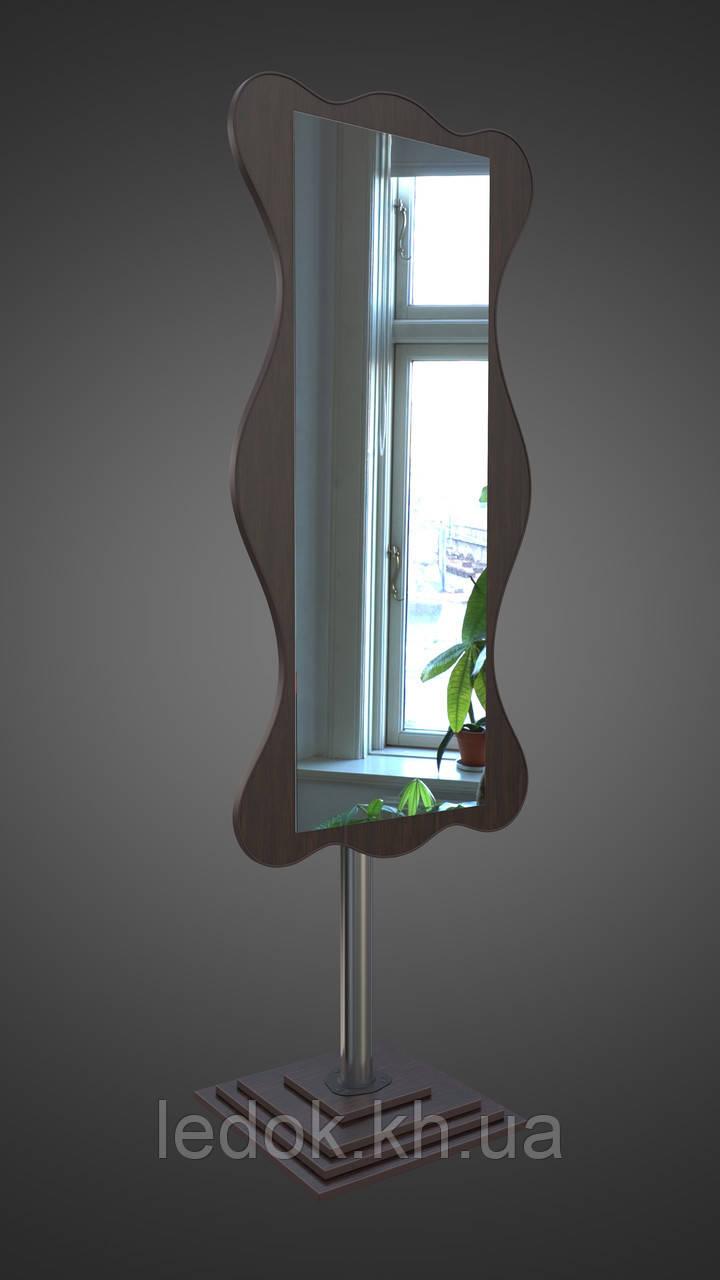 Зеркало на хромированной опоре, венге