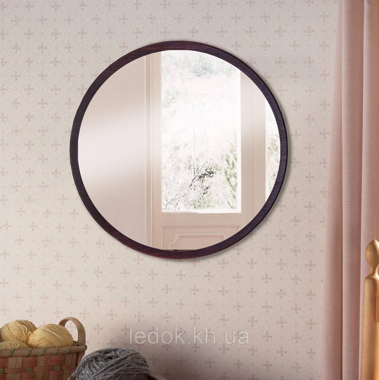 Зеркало круглое 800 мм венге