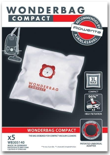 Набор мешков Wonderbag Compact для пылесоса Rowenta WB305140 (5шт)