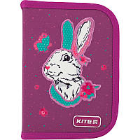 Пенал без наполнения Kite Education Bunny K20-622-5, 1 отделение, 2 отворота, фото 1