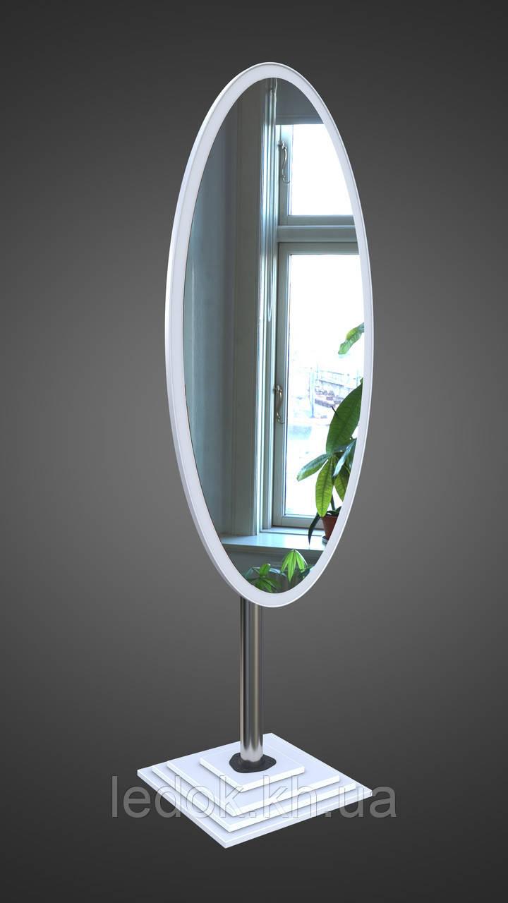Овальное напольное зеркало, черное белый