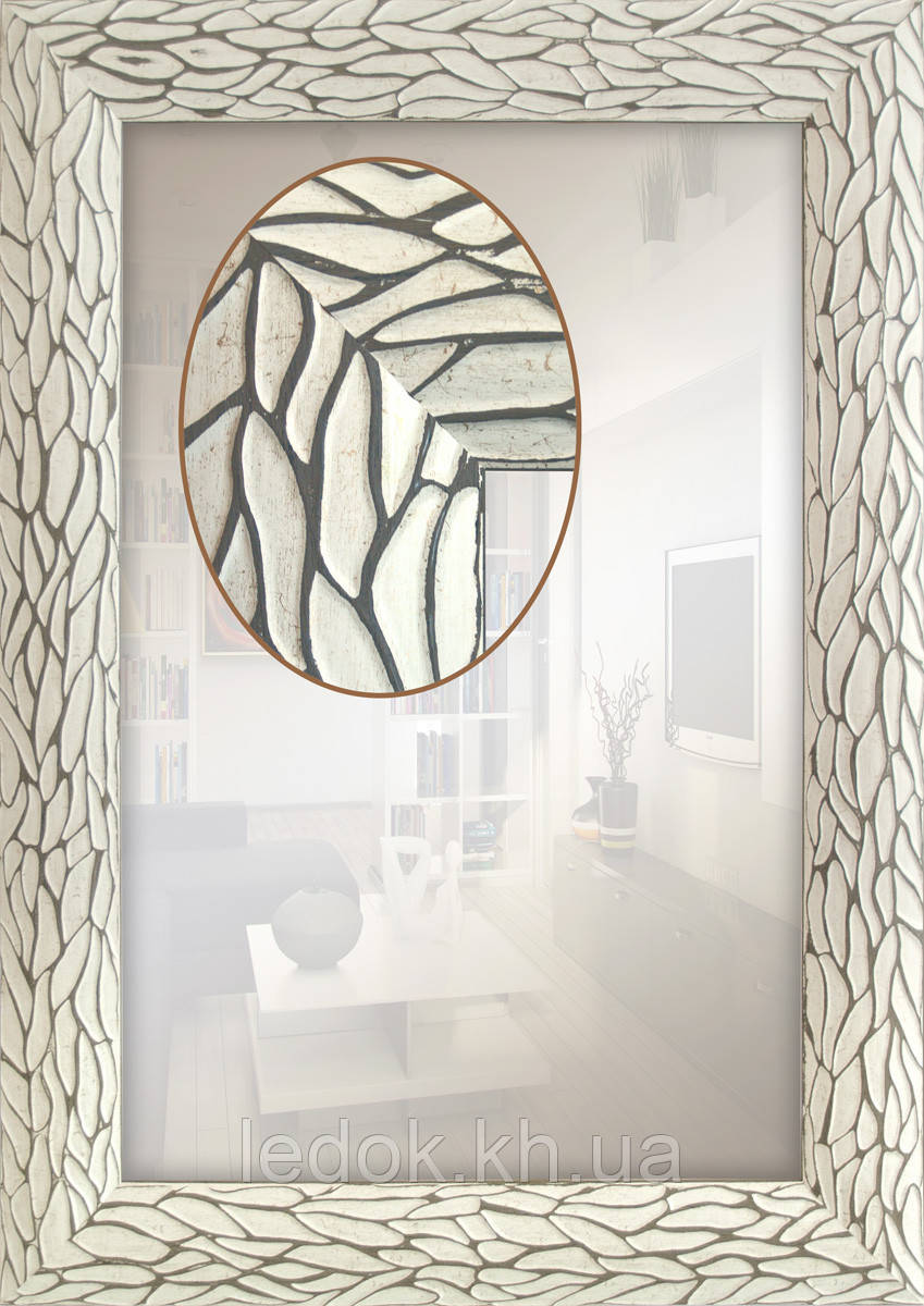 Зеркало в раме для ванной, прихожей, спальни, салон красоты 600х600, 600х600