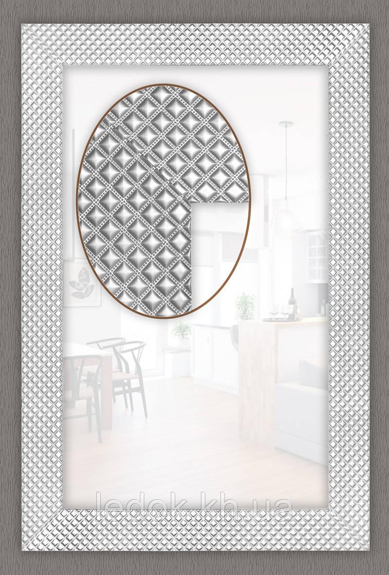 Зеркало в багетной раме 1200х600, Пластик