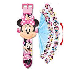 """Детские наручные часы с 3d проектором """"Минни Маус (Minnie Mouse)"""""""