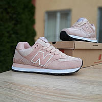 Женские кроссовки в стиле New Balance 574  пудра, фото 1