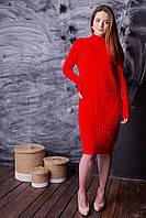 Красивое Кашемировое Платье Косичка в Разных Цветах