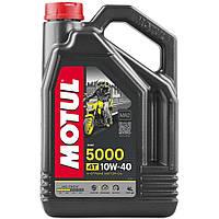 Масло для 4-х тактных двигателей полусинтетическое MOTUL 5000 4T SAE 10W40 4л. 104056/836941