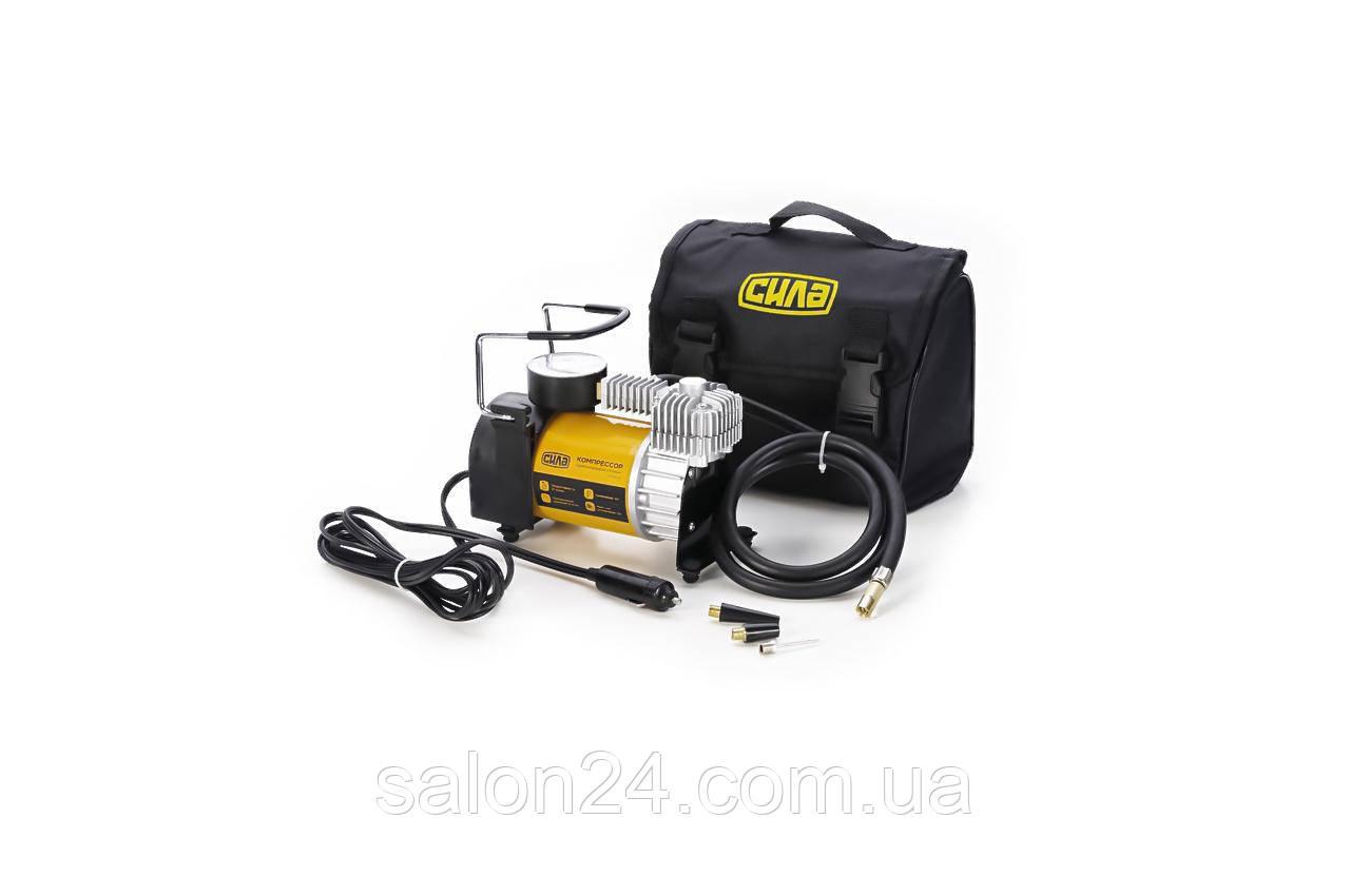 Миникомпрессор автомобільний Сила - 12 x 10 bar x 35 л/хв, однопоршневий