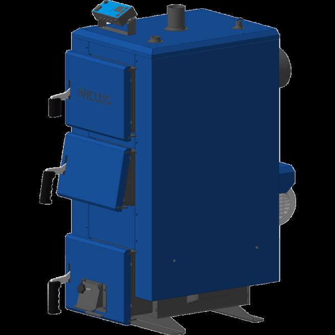 Бытовые отопительные котлы длительного горения на твёрдом топливе Neus KTА (Неус КТА 40 кВт)