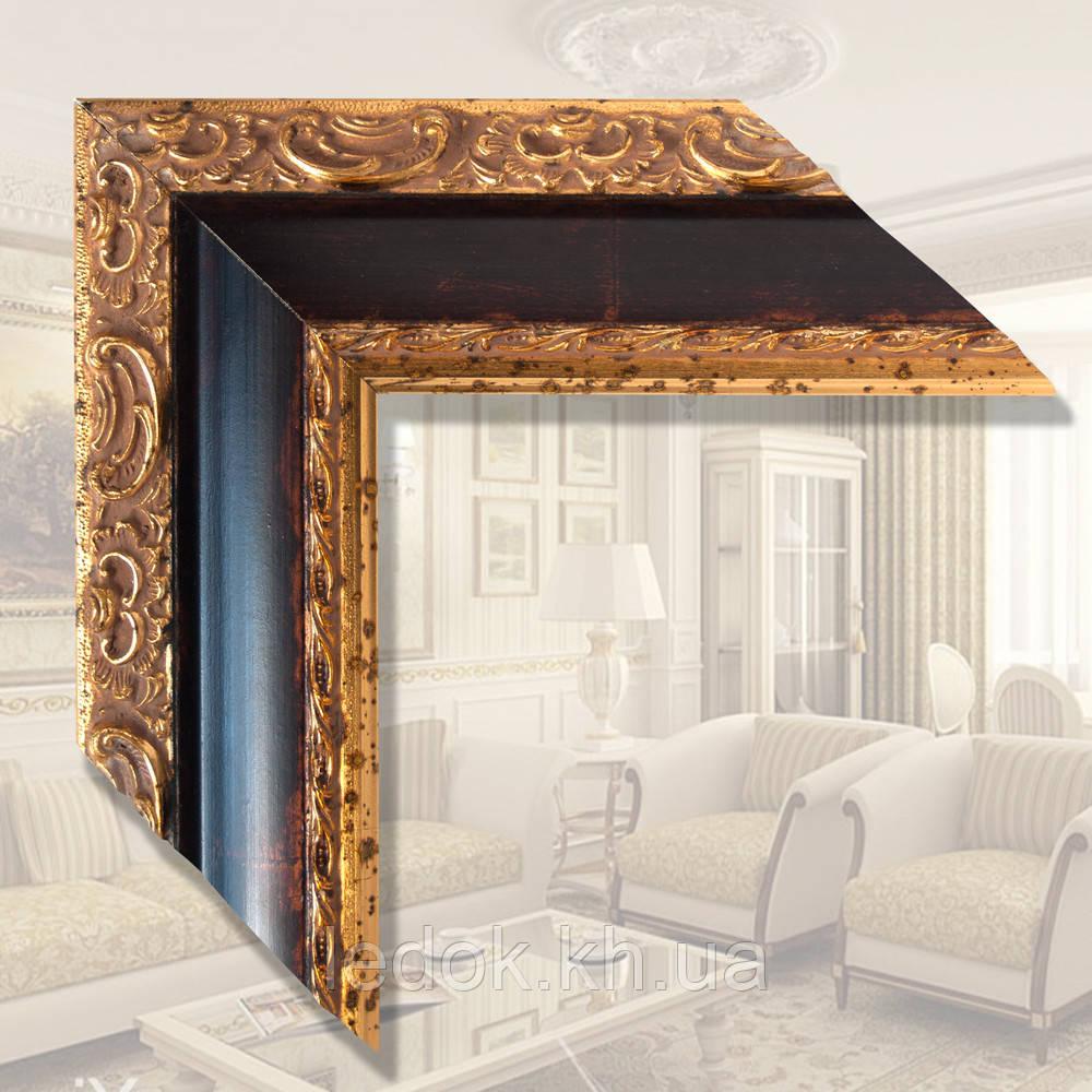 Зеркало в деревянной раме для ванной, прихожей, спальни Дерево, 1200х600