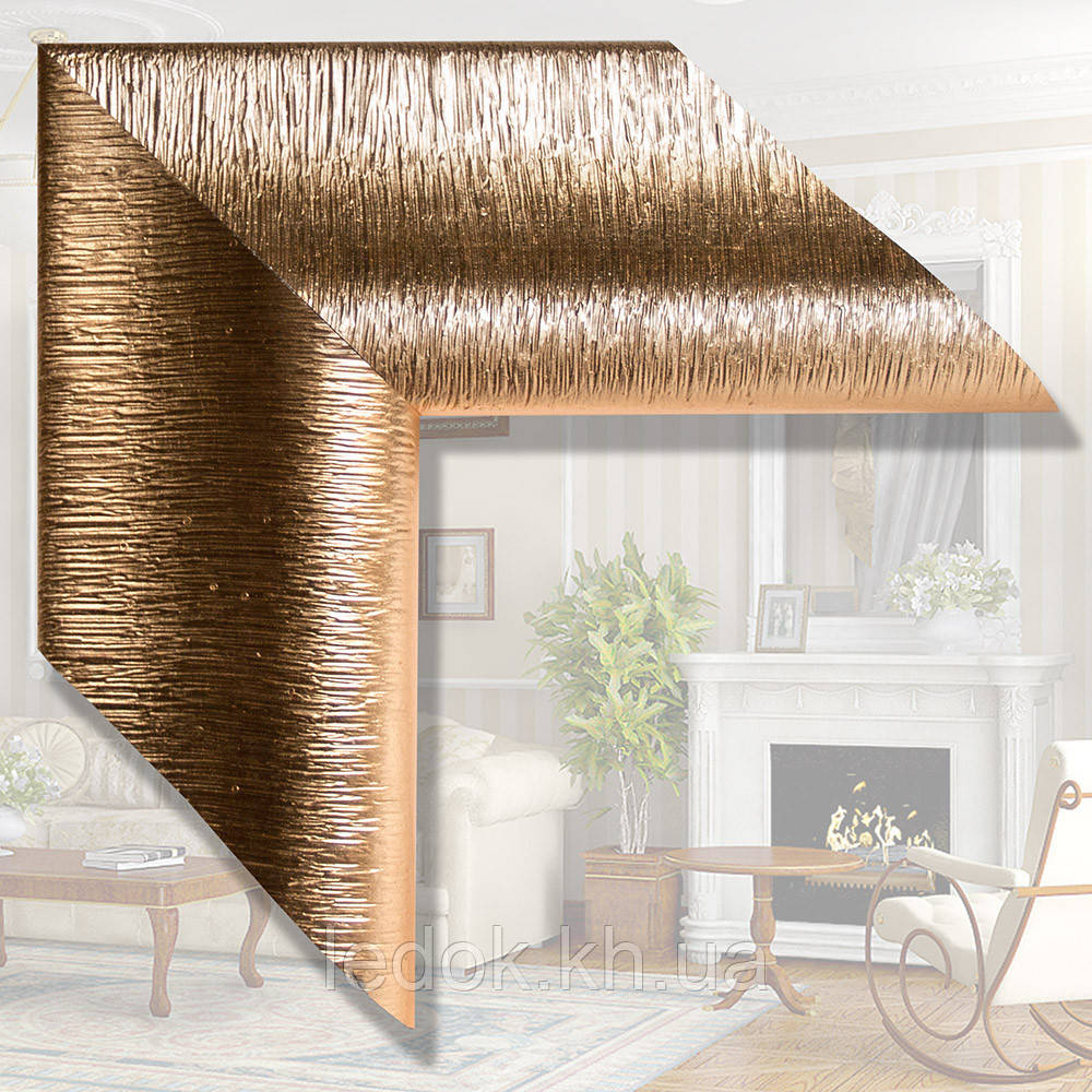 Дзеркало в дерев'яній рамі для спальні, кабінету, ванної 115мм Дерево, 1600х800