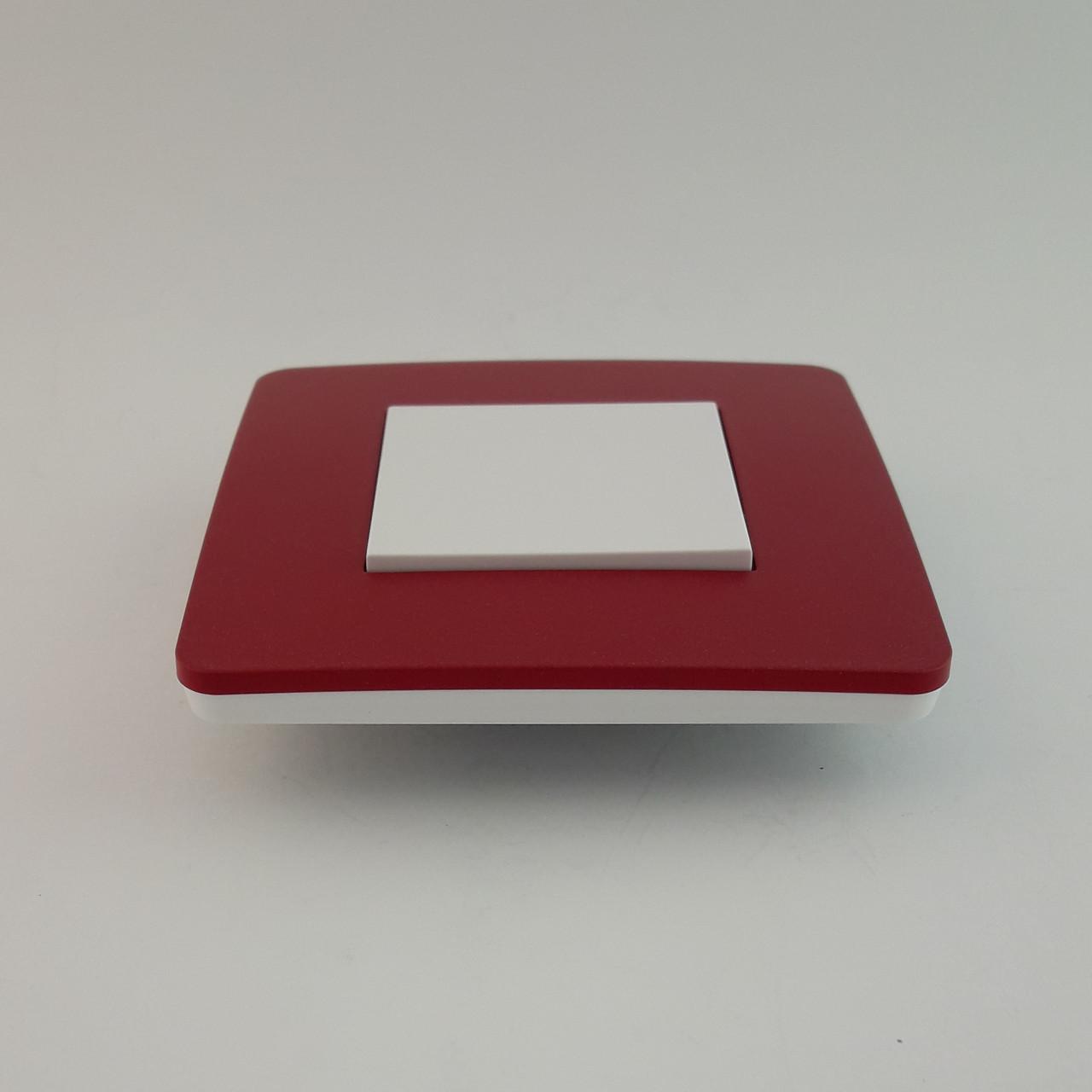Рамка 2 постовая Studio Color, красный/белый, 2х2 модуля