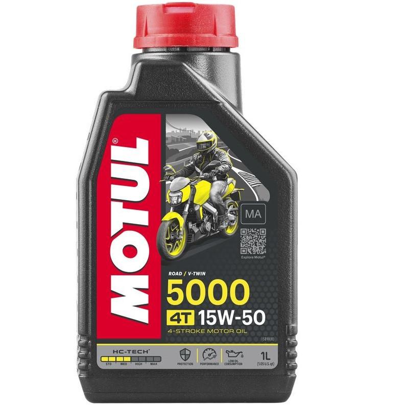 Масло для 4-х тактних двигунів напівсинтетичне MOTUL 5000 4T SAE 15W50 1л. 106012/837911