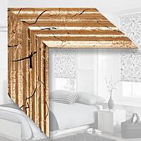 Зеркало в деревянном багете, поталь 500х700