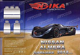 Авточехлы Nissan Almera 2012- (з/сп. цельная) Nika