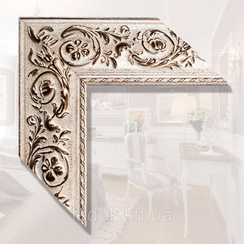 Зеркало в деревянном багете 89мм Дерево, 1600х800